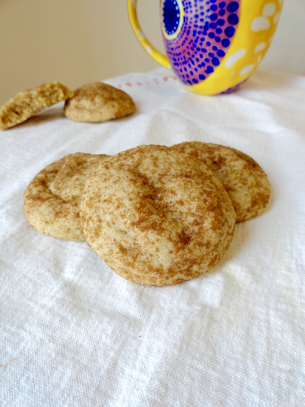 Autumn Spiced Snickerdoodles - Thick and chewy snickerdoodles with pumpkin pie spice and rolled in brown sugar and more spice. - Kate's Sweets